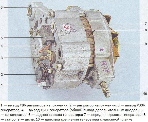 Электрическая схема генератора ваз